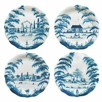 Juliska Country Estate Delft Blue Party Plates Set - 4