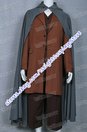 The Lord of the Rings Frodo Baggins Cosplay Costume Cape Coat Full Set Tailored