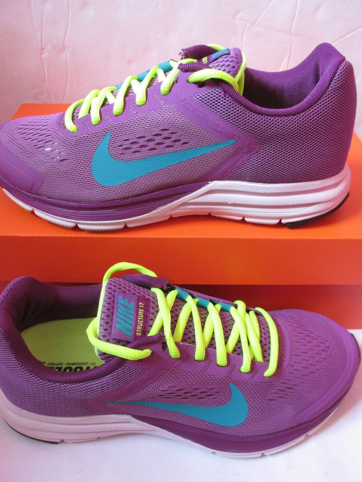 Nike Femmes Zoom Structure + 17 Basket Course 615588 535 Baskets