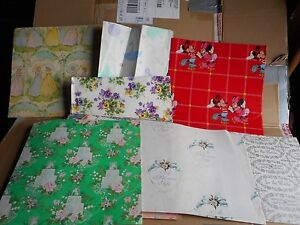 Vintage Lot of 24 plus different Mixed Gift Wrap