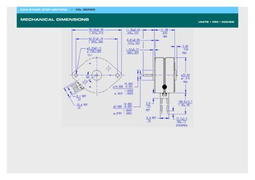 12 V 7.5 deg//step 48 Steps 35L048B Portescap Unipolar Stepper Motor