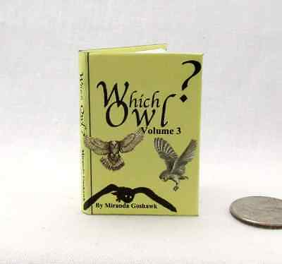 WHICH OWL? 1:6 Scale Readable Illustrated Miniature Book HARRY POTTER Magic