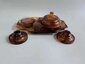 Davidson-amber-cloud-glass-Dressing-Table-set