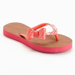 c42d807ba Polka-Dot Bow Flip-Flops - Girls Size Summer Sandals Brand New