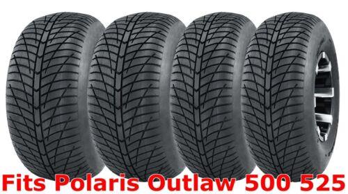 Set 4 21x7-10 /& 20x10-9 Polaris Outlaw 500 525 Hi-speed ATV tires