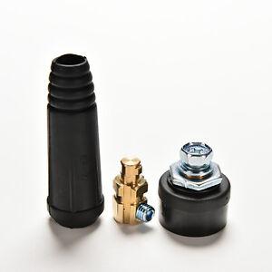 2x-Fitting-Kabelstecker-Stecker-Buchse-DKJ10-25-amp-DKZ10-25-200A-Schweissgeraet-AB