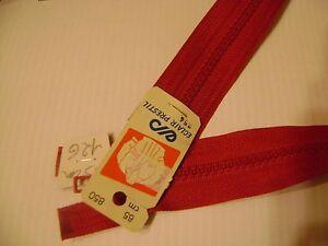 1 Fermeture éclair Séparable 65 Cm Injectee 6 Cm Rouge 850 N° 12 G Réf. Z 54 Prix De Rue
