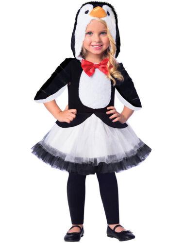 Enfants Filles En Peluche Mignon Pingouin Animal Oiseau Tutu Déguisement Noël Costume