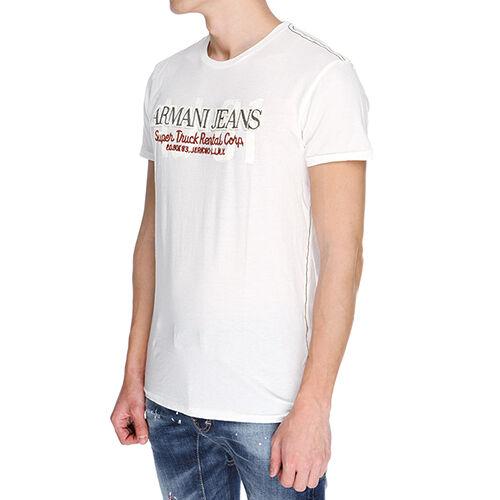 Armani Jeans  Herren Weiß H/S Tshirt - Sz S, XXL & XXXL BNWT 100% Genuine