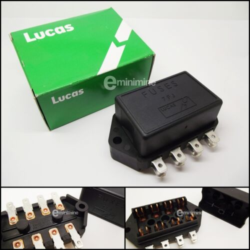 Classic Mini Genuine Lucas Fuse Box 4-line 1976-94 RTC440A Glass Type 4 way 7FJ