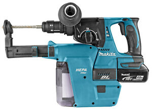 makita dhr243 rmjv with dx02 suction 18v 4ah akku battery. Black Bedroom Furniture Sets. Home Design Ideas