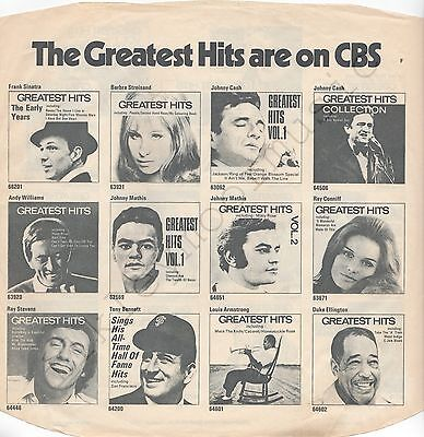 """Diligent Vintage Inner Sleeve Or Sleeves 12"""" Cbs Advertising 'f' The Greatest Hits X 1 Storage & Media Accessories"""