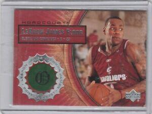 2003 04 Upper Deck Hardcourt Lebron James Gameused Floor Rookie Card Nice Look Ebay