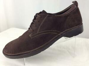 """Diplomatic Bass """"sassy"""" Women's Brown Suede Lace-up Oxford Sz 10m #b622 Women's Shoes Comfort Shoes"""