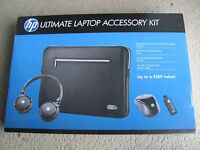 """Hp Ultimate Laptop Accessory Kit: Mouse,headset, 16gb Flash Drive & Sleeve 15.6"""""""
