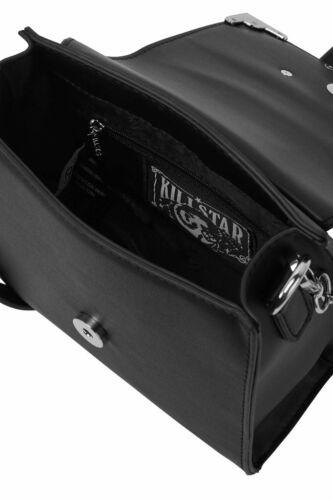 Killstar Mica Crescent Moons Gothic Punk Witchy Occult Black Handbag KSRA001041