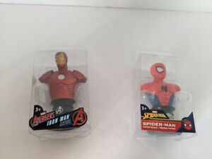 Marvel Iron Man and Spider-man Paper Weights - NEW!! Unopened!