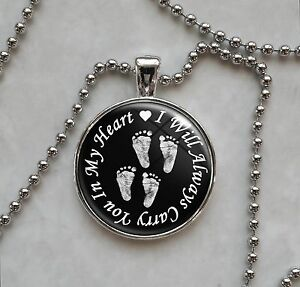 Carry you in my heart twins baby footprints miscarriage pendant carry you in my heart twins baby footprints miscarriage pendant necklace ebay aloadofball Choice Image