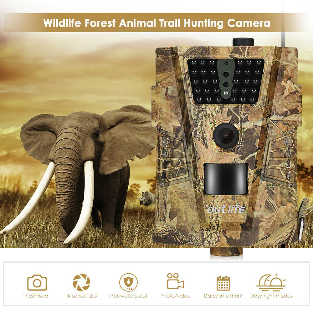 Hunting Trail Camera 12MP 1080P FHD  30pcs IR Infrared LED 850nm 90 Sight Angle  just buy it