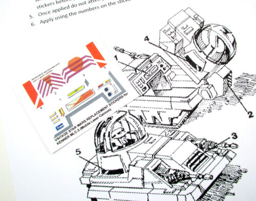 'DIE CUT' REPLACEMENT STICKERS for STAR WARS MLC-3 MLC3 (Mobile Laser Cannon)