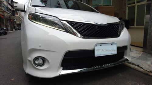 TOYOTA SIENNA 2011-2017 front lower grill cover chrome garnish trim-SE model