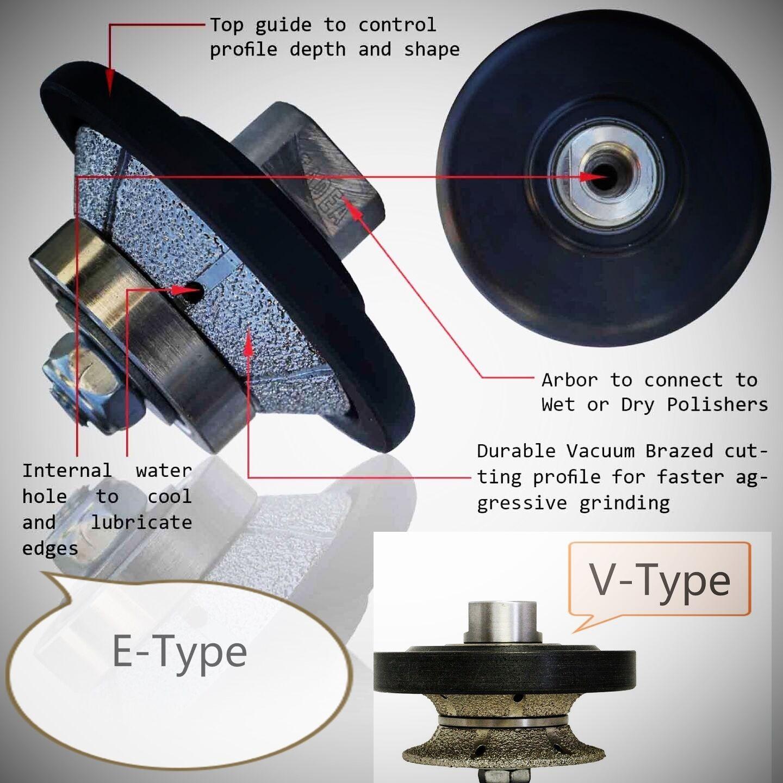3 16  Bevel 1 1 4  Full Bullnose Diamond Profiling Router Bit Granite countertop