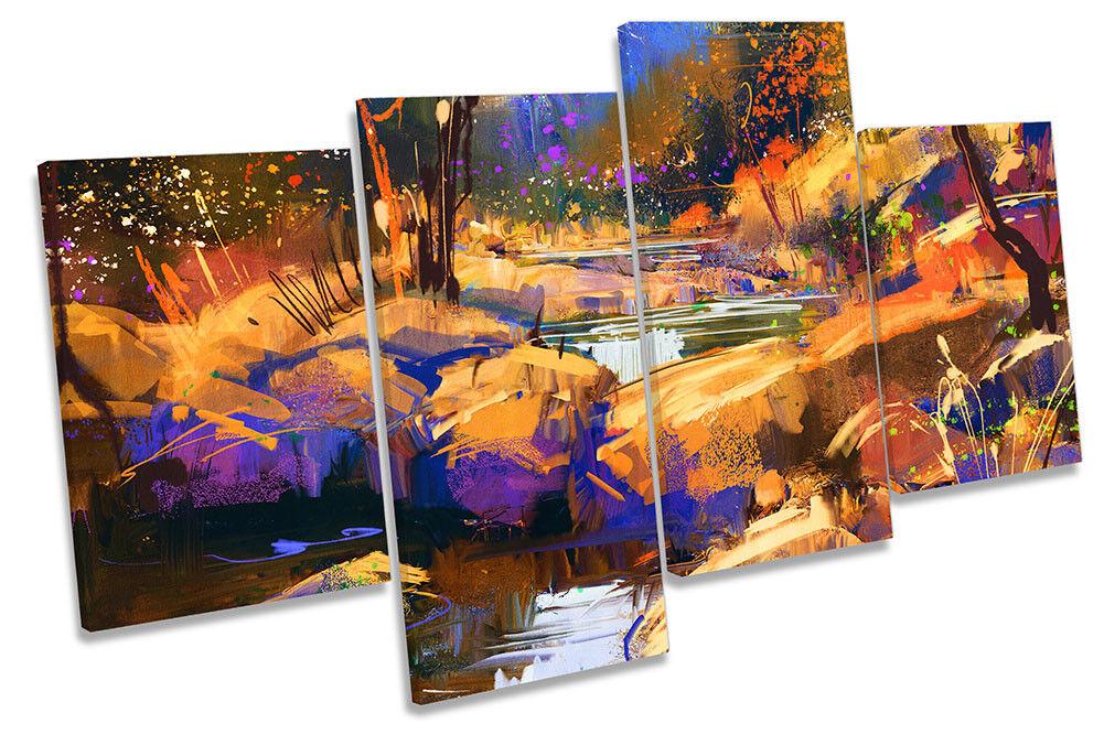 Bosque Paisaje Abstracto Cuadro múltiples Lienzo Pared Arte Impresión de múltiples Cuadro fe80b9