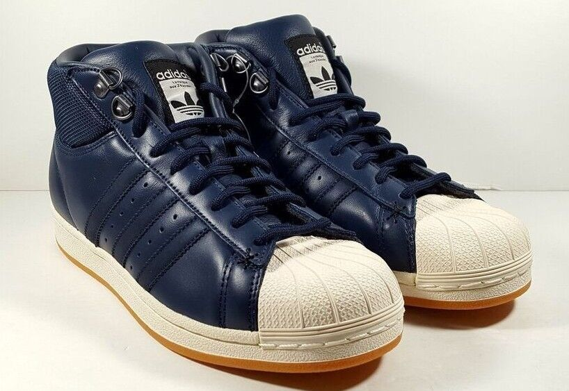NEW adidas Pro Model Superstar Basketball shoes bluee White  BB9064 Men Size 7