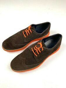 COLE-HAAN-LUNAR-GRAND-Mens-Suede-Oxford-Wingtip-Casual-Shoes-Size-9M-Brown