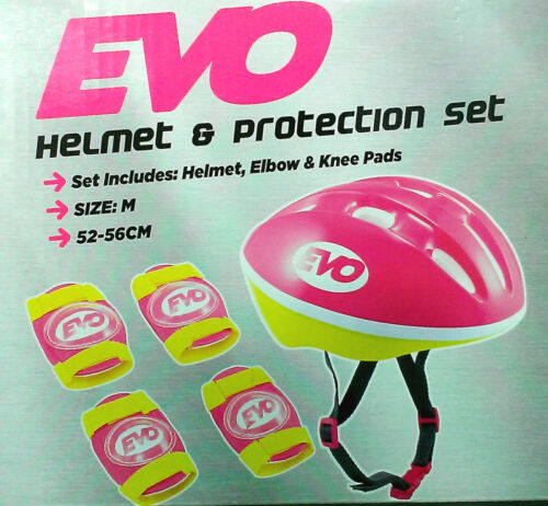 Helmet & Protection Set - PINK - 52-56cm - Size: M - EVO ** PURCHASE TODAY **