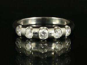 Eleganter-Brillant-Ring-ca-0-70ct-750-Weissgold-mit-grosser-Ringweite-58-1-2