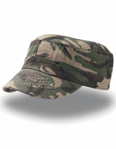 Basecap im Military Style Militär Look Destroyed Look Verwaschen