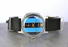 """Vintage Pobeda """"Victory"""" USSR Russian Soviet Mens Watch with new strap"""