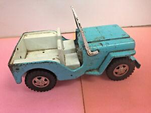 BS9-Vintage-Metal-Tonka-Toys-Jeep-Teal-Turqouis-Blue-Color-steel-10-x-5-x-4