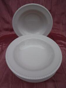 7pc Pottery Barn Emma Pasta Bowls Ivory 9 75 Quot Ebay