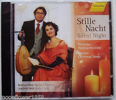 NEU CD Stille Nacht Deutsche Weihnachtslieder Bettina Pahn Joachim Held hänssler