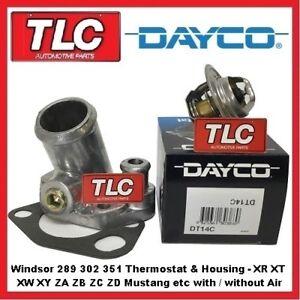 Ford-Windsor-289-302-351-XR-XT-XW-XY-ZA-ZB-ZC-ZD-V8-Dayco-Thermostat-amp-Housing