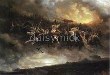 Viking Norse Mythology Gods Wild Hunt of Odin 7x5 Inch Print