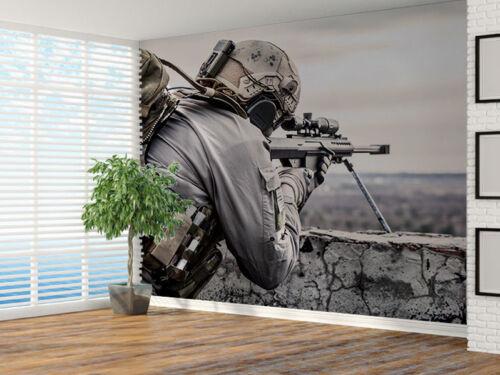 35628515 Armee Sniper während der Militär Einsatz Foto Wandtapete Wandgemälde