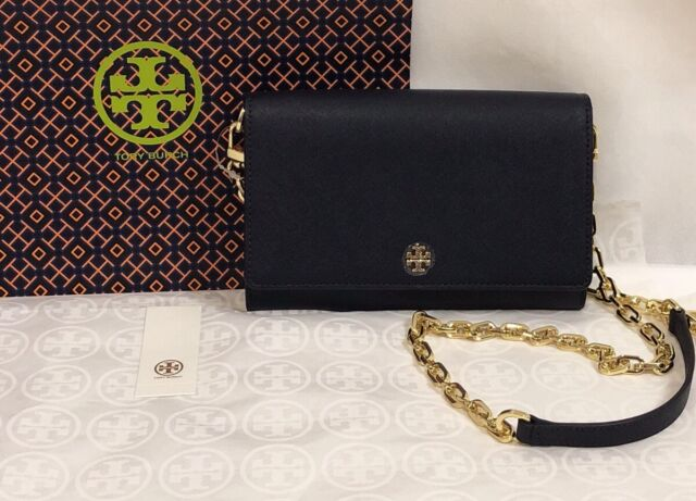 aadf44e6e7cd NWT Tory Burch Emerson Saffiano Leather Chain Wallet Crossbody Clutch Bag