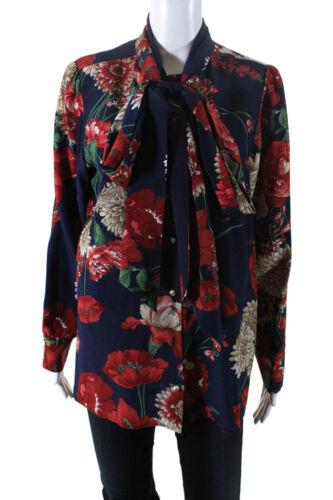 Gucci Womens 2019 Silk Floral Long Sleeve Button D