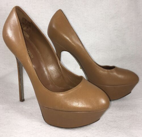 SERGIO ROSSI Uptown stiletto platforms pumps 38 8.