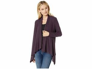 Details about $172 Bobeau Collection Women's Purple Long Sleeve Knit Sweater Cardigan Size L