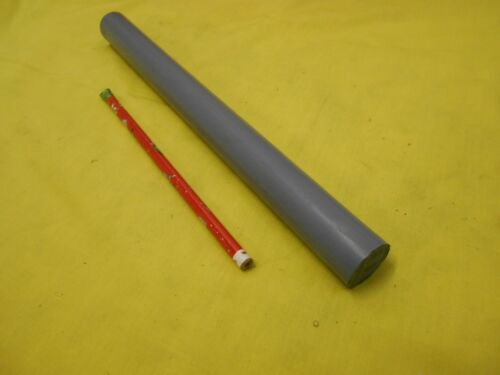 "GRAY CPVC ROD machinable plastic round bar stock 1/"" OD x 12/"" OAL"