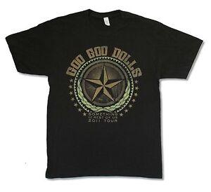 Goo-Goo-Dolls-Star-Tour-2011-Mi-La-Leg-Black-T-Shirt-New-Official-Band-Merch