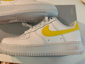 Details about *Super Rare* NIKE AIR FORCE 1 '07 Yellow Swoosh 315115-150  Women SZ 6.5