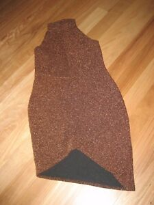 LADIES-CUTE-BROWN-SHINEY-POLYESTER-SLEEVELESS-DRESS-BY-BOOHOO-SIZE-UK-14-CHEAP