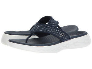 9c7867dd6 Women Skechers On The Go 600 Flip Flop Sandal 15300 NAVY  White100 ...