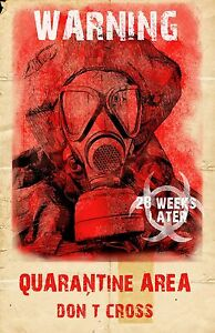 28 Weeks Later Affiche Film (d) - Zombie Apocalyptic Horreur 27.9cm X 43.2cm