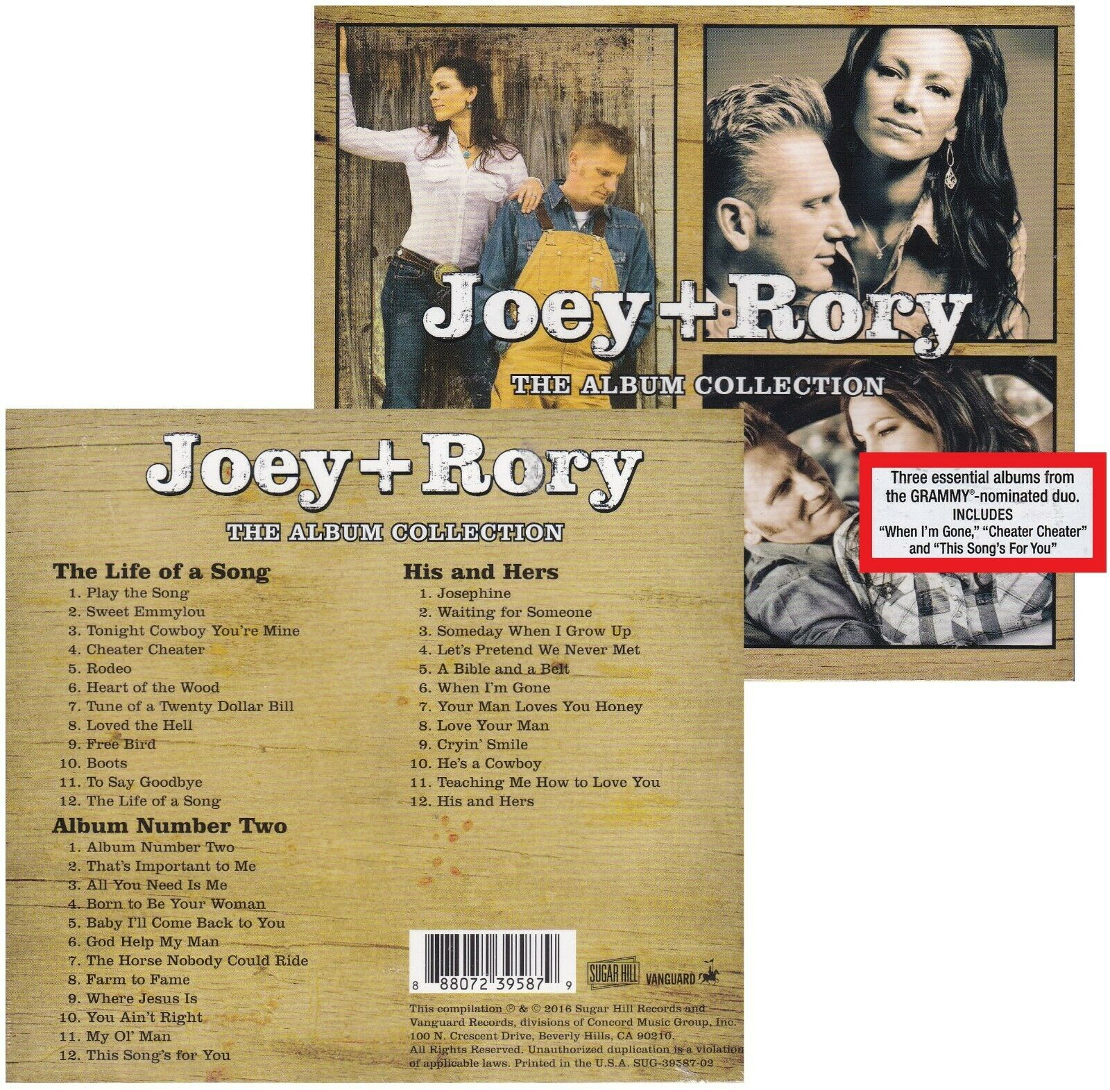 Joey Rory The Album Collection 3 CDs 2016
